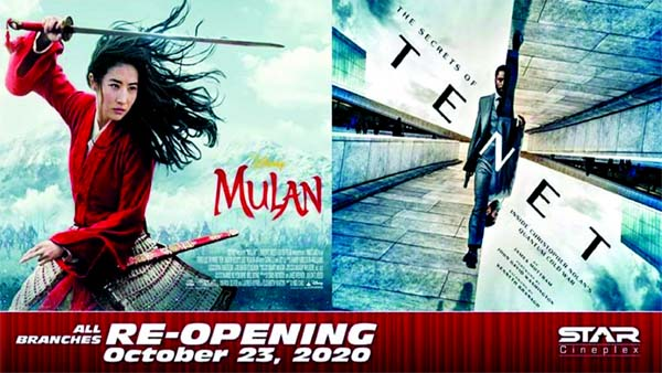 Star Cineplex reopens today with premiere show of Mulan and Tenet