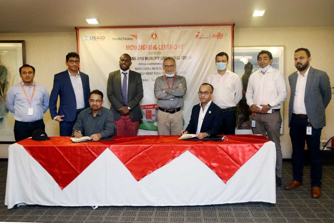 Mashrur Arefin, Managing Director and CEO of City Bank Limited and Suresh Bartlett, National Director of World Vision Bangladesh, signed an agreement on behalf of their respective organizations at the banks head office in the city recently.