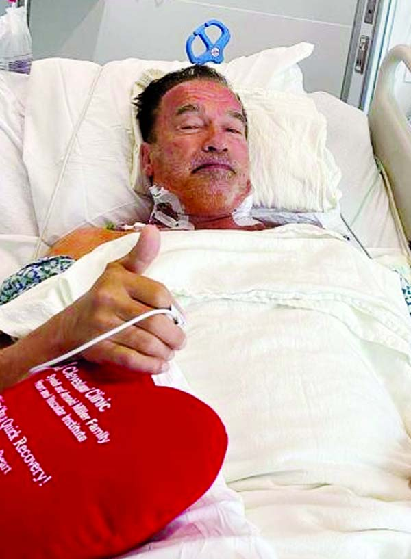 Schwarzenegger says feeling 'fantastic' after heart surgery
