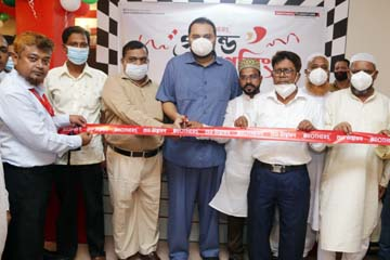 Sharifuzzaman Sarkar, Director of Brothers Furniture Limited, inaugurating its new showroom at Rajbari recently. Alim Ur Reza, Assistant Manager (Marketing and Sales) and other officials of the company and local dignitaries were present.