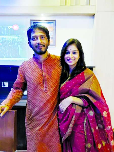 Arnob ties knot with Sunidhi Nayak in Asansol
