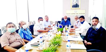 Md Rezaul Karim, Chairman of the Shippers' Council of Bangladesh, presiding over it 3rd directors meeting at its head office at Dhanmondi in the city recently. Senior Vice-Chairman Md Ariful Islam, Vice-Chairman Munir Hossain, Directors AKM Aminul Mannan (Khokon), Syed Md Bakhtiar, Ziaul Islam and Ganesh Chandra Saha, among others, were present.