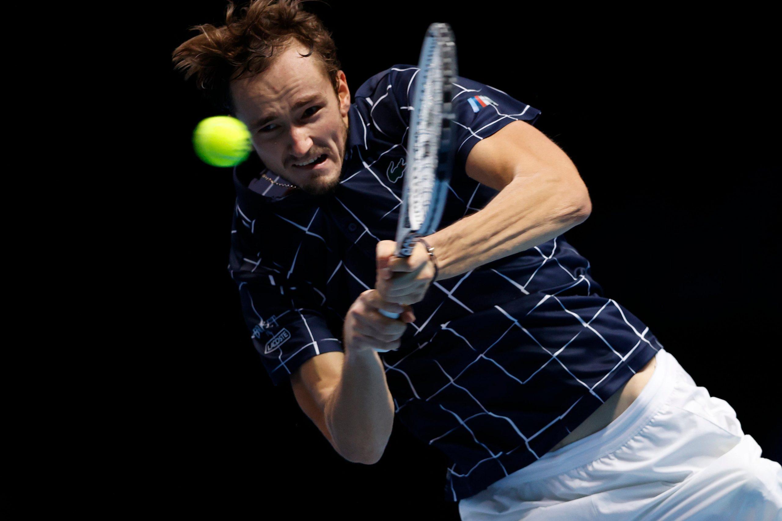 Medvedev wins with underarm serve at ATP Finals