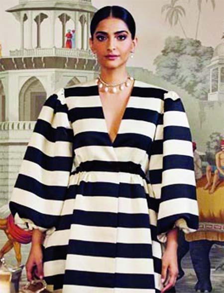 Sonam looks awe elegant in the Emilia Wickstead