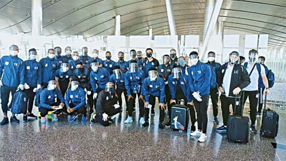 Bangladesh Football team arrive in Qatar for World Cup Qualifiers