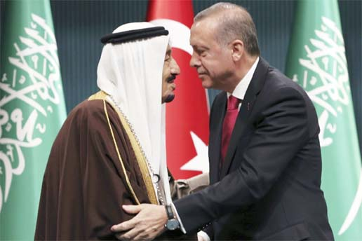 Turkey's President Erdogan, Saudi King discuss improving ties