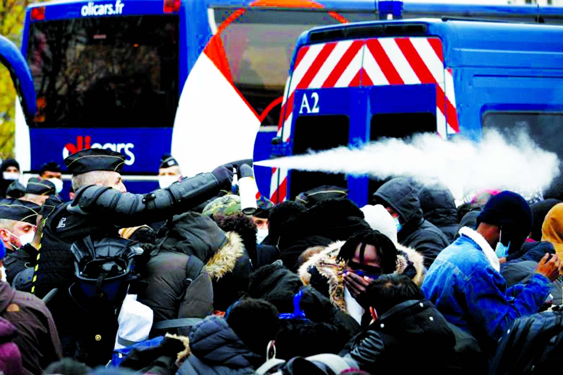 Paris police in