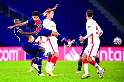Neymar keeps PSG on course in Champions League with Leipzig win