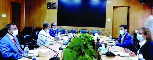 Envoy of Denmark to Bangladesh Winnie Estrup Petersen calls on Environment, Forest and Climate Change Affairs Minister Md. Shahab Uddin at the conference room of the ministry on Thursday.