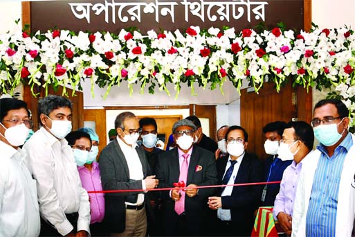 Health and Family Welfare Minister Zahed Maleque inaugurates Surgery Department and Operation Theater Complex of Sheikh Russel National Gastroliver Institute and Hospital in the city's Mahakhali on Thursday.