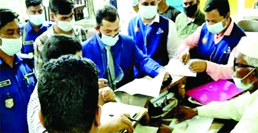 A mobile court led by Senior Judicial Magistrate Md Kamal Hossain sued 13 shops and business concerns  for irregularities and without BSTI licences in Chandpur on Tuesday.