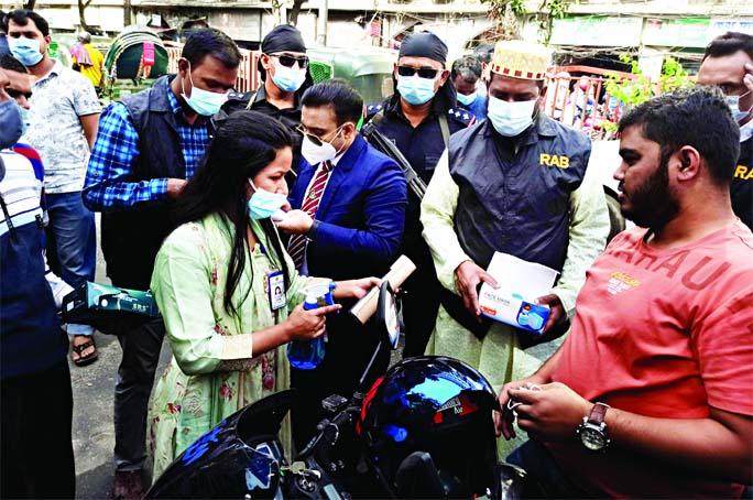 RAB intensifies drive to ensure use of mask in city