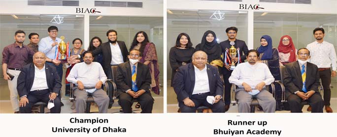 Trophy of BIAC Inter University Arbitration Contest distributed