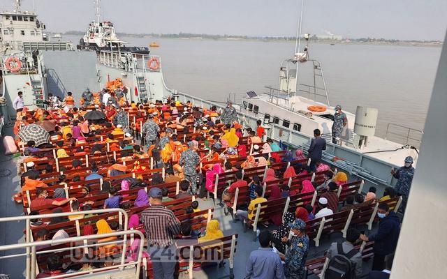 Bangladesh ships over 1,600 Rohingya refugees to Bhasan Char island