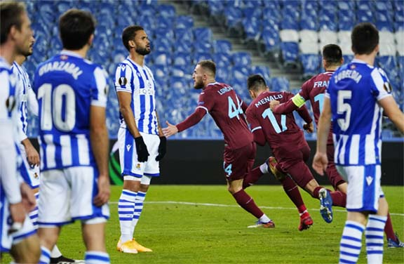 Villarreal,Granada into last 32 of Europa League but Real Sociedad fluff their lines