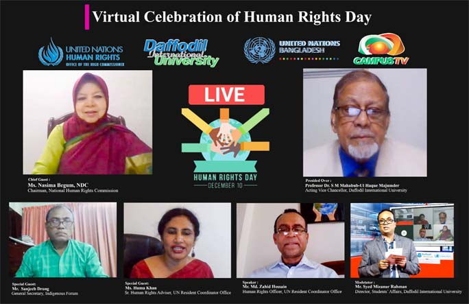 UN BD Office, DIU jointly celebrate 'Human Rights Day 2020'