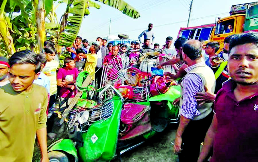 6 of a family killed in Mymensingh road accident