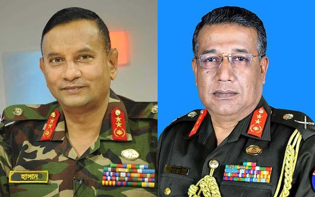 Gen Sarwar Hasan made chief of general staff, replaced by Gen Akbar as NDC commandant