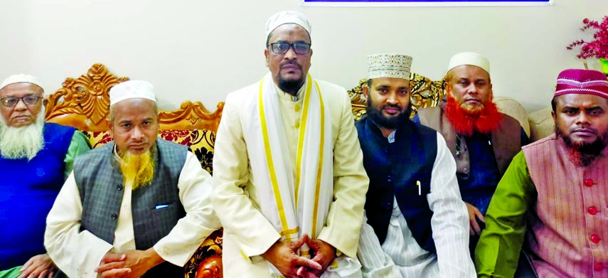Chairman of United Islami Party Maulana Ismail Hossain speaks at a press conference at his office in the city's Uttara on Thursday in protest against attack by terrorists.