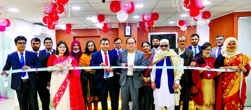 M Fakhrul Alam, Managing Director of ONE Bank Limited, inaugurating its sub-branch at Darus Salam Road in Mirpur-1 in the city on Thursday. High officials of the bank and local elites were also present.