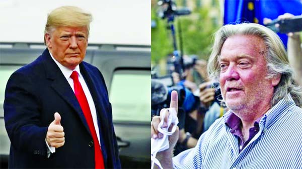 Trump pardons ex-strategist Steve Bannon, dozens of others