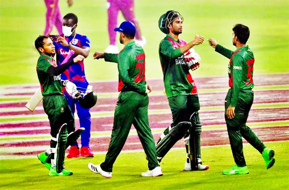 Bangladesh secure easy 6 wickets victory over WI in first ODI