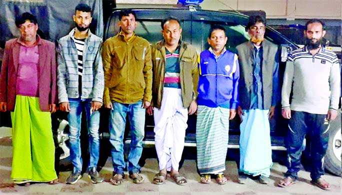 RAB-10 detains twenty-six gamblers conducting raids at different places including Jatrabari in the city on Friday.