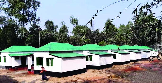 A total of 200 landless and homeless families in Bhurungamari Upazila in Kurigram received shelters on Saturday as a gift from Prime Minister Sheikh Hasina on the occasion of the 'Mujib Barsho'. Kurigram district administration handed over the keys and documents of the houses at a ceremony held in the upazila parishad auditorium.