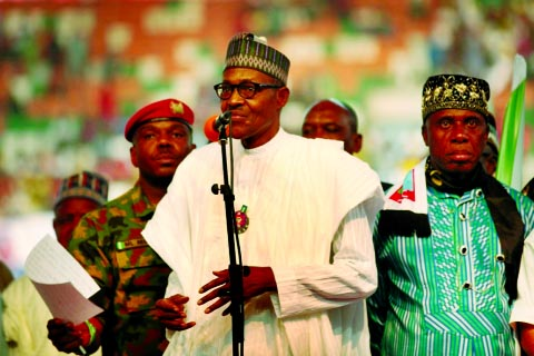 Nigerian President Buhari replaces top military commanders