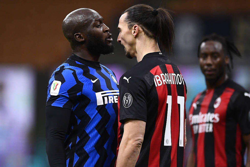 Ibra sent off as Inter win Milan Derby in Coppa Italia