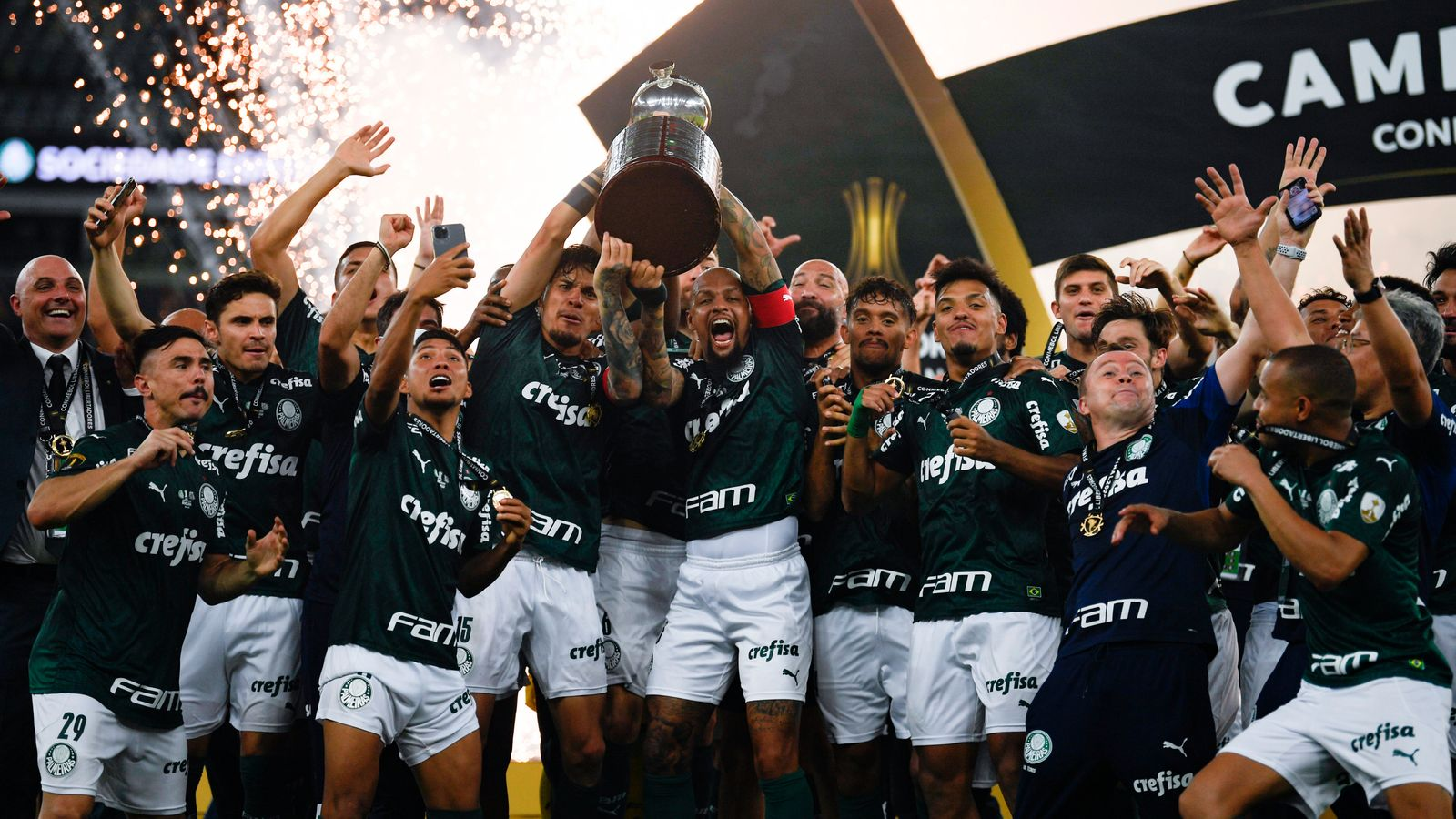 Palmeiras beat Santos with Breno Lopes goal in ninth minute of injury time