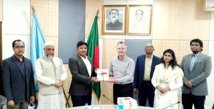 British council delegation calls on UGC member Prof Biswajit Chanda