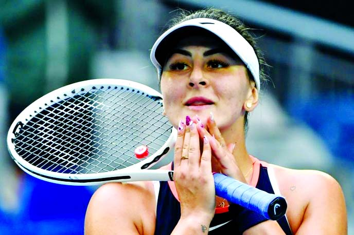 Andreescu in tears on return from 15-month layoff