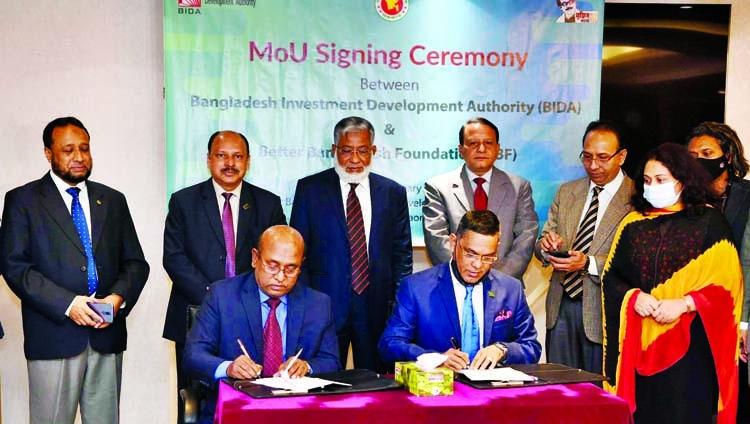 BIDA, BBF sign MoU to attract more FDI