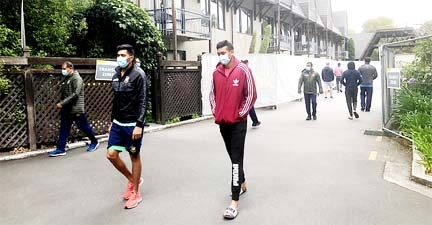 Bangladeshi cricketers allowed to go out for a walk