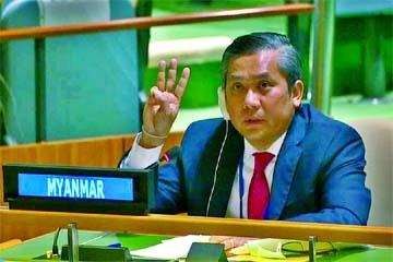 Myanmar envoy appeals to UN to stop coup