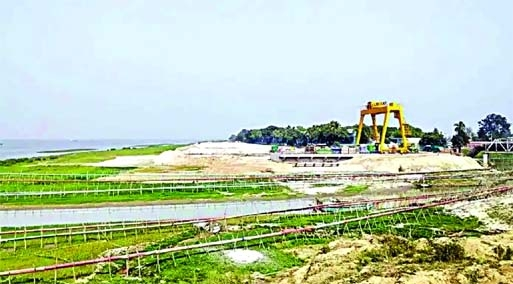 A power plant is being constructed in Ashuganj filling around 8 acres in the Meghan bank at Sohagpur area in Aushuganj.  National River Conservation Commission visited the spot and stop filling the river.