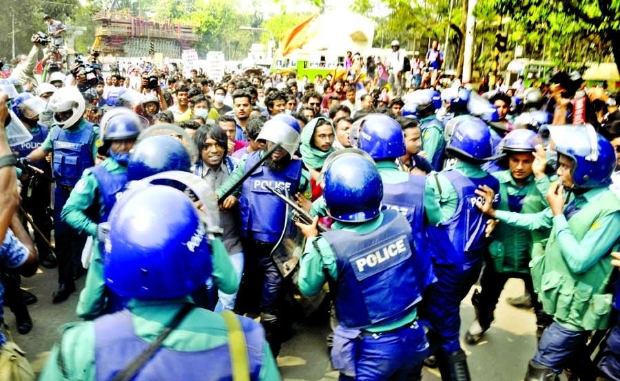 Protesters barred from going to Home Ministry