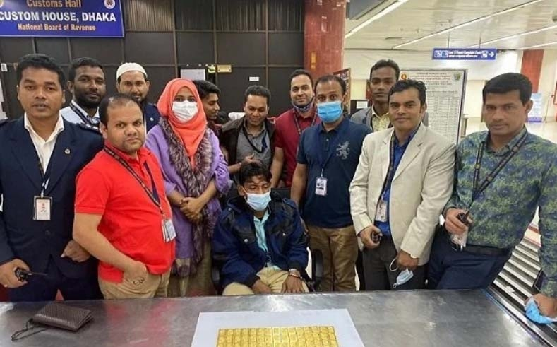 Man held at Dhaka airport for smuggling gold worth Tk 3.20 cr