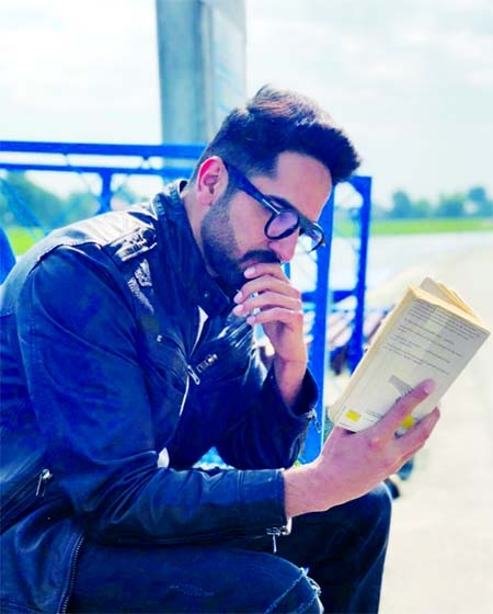 Ayushmann shares pic from sets of Andhadhun on World Book Day