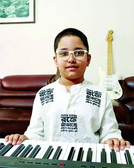 Budding talented pianist Adyan Faiz