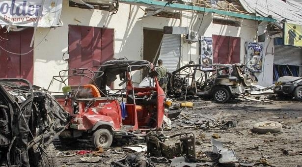 At least 20 killed by suicide car bomb near restaurant in Somalia capital