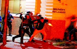 Fire, smoke, gunshots in Paraguay capital