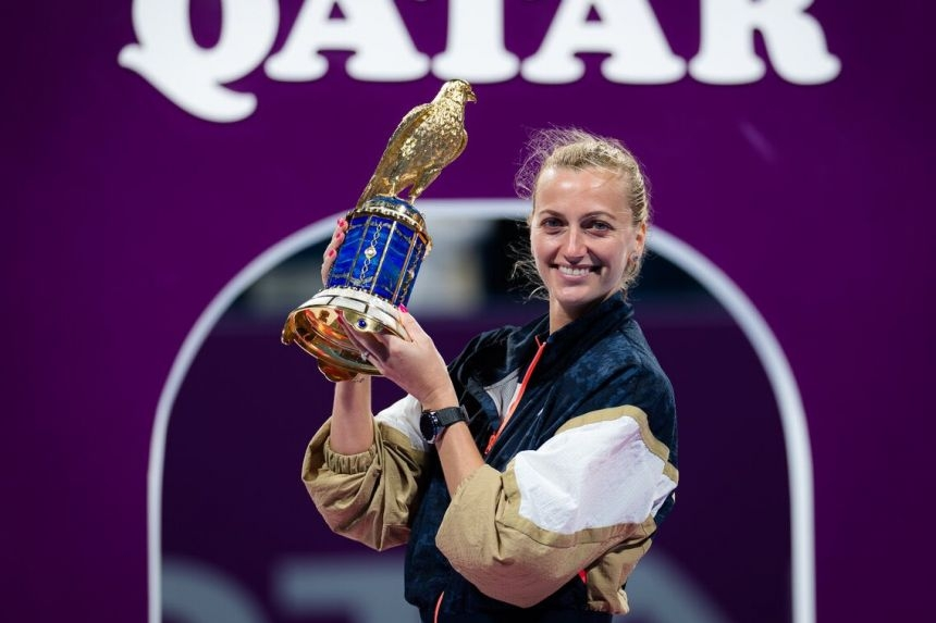 Kvitova demolishes Muguruza to win second Qatar Open title