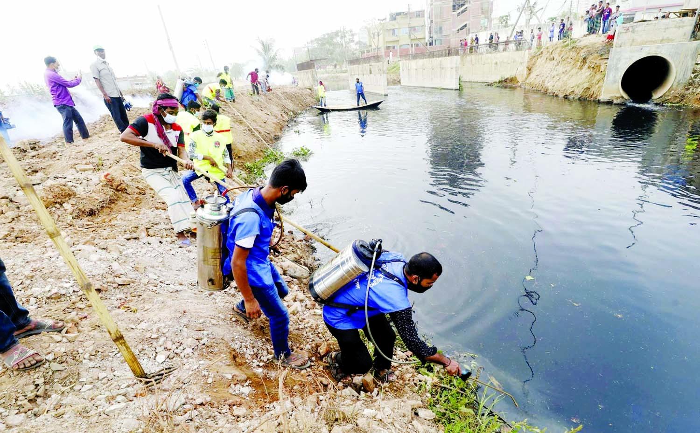 Dhaka North crash program to kill mosquitoes begins