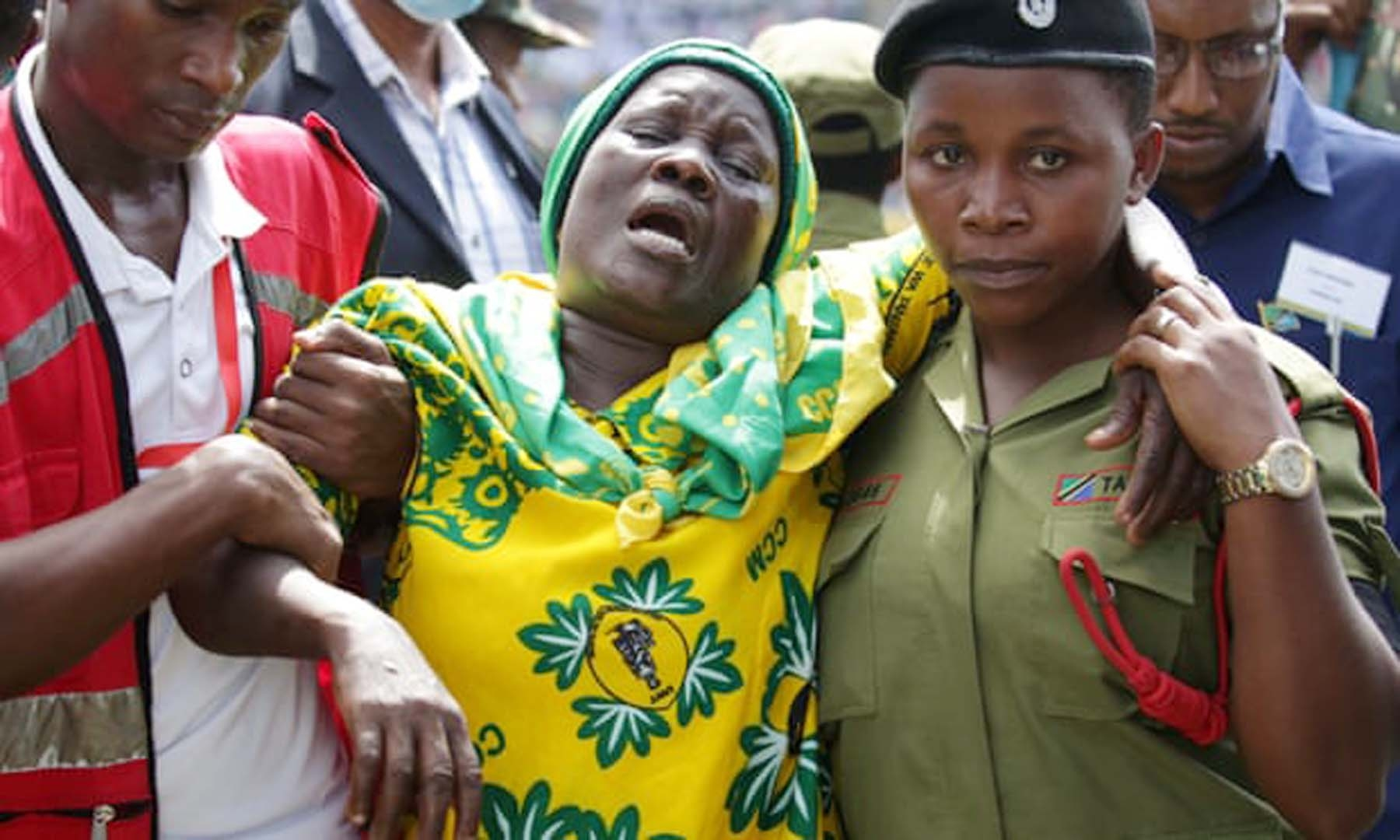 Tanzanian police say 45 died in stampede at Magufuli tribute