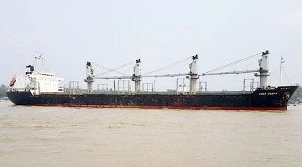 First ever large vessel berthed in pvt jetty in Ctg Port