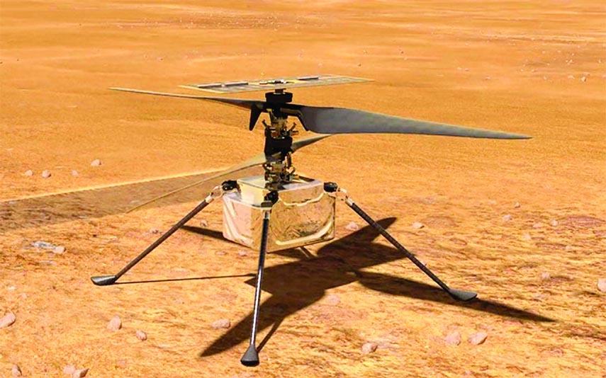 NASA's Mars helicopter makes history