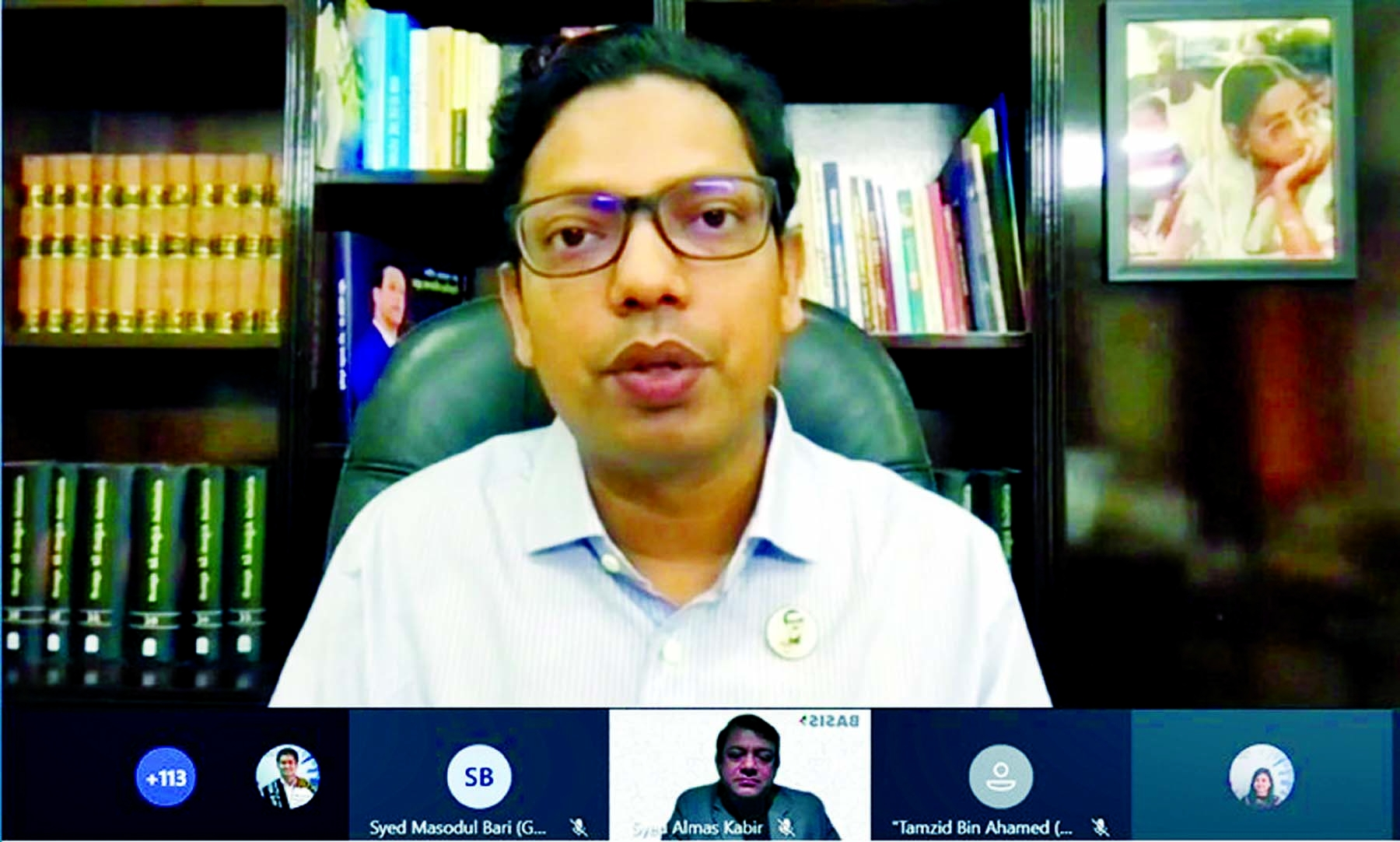 State Minister for Information and Communication Technology Junaid Ahmed Palak virtually inaugurates Microsoft Cloud Skill Training office free of cost on Tuesday.