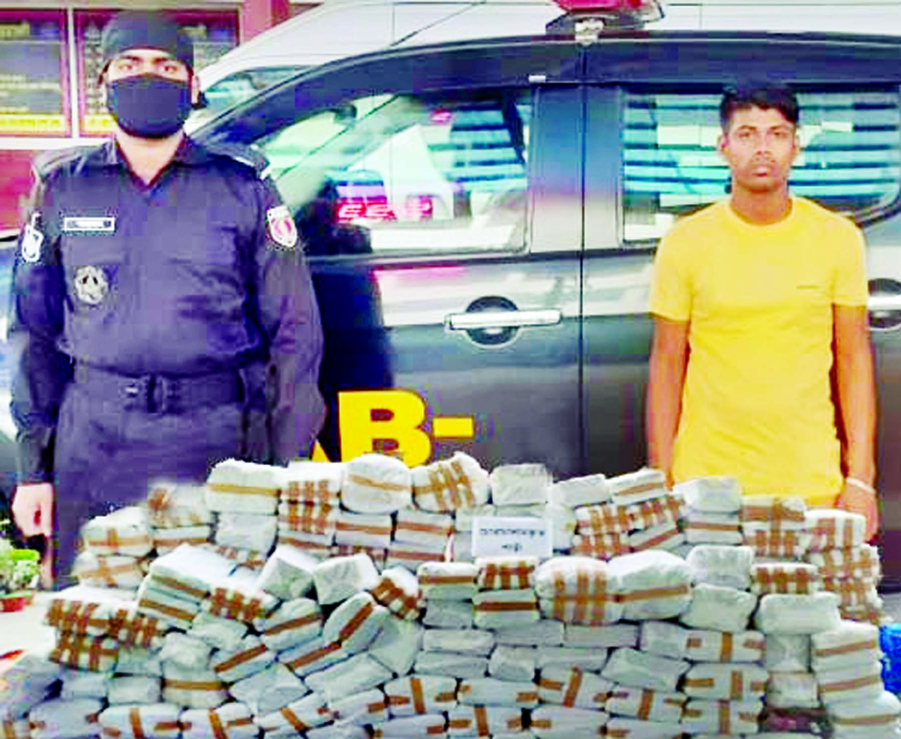 RAB-10 detains 1 person with smuggled sharees and Lehengas worth about Tk 01 crore  and 25 lakh conducting raid at Siddhirganj in Narayanganj on Wednesday.